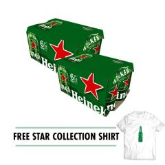 2 HEINEKEN® 330ML 6 PACK CAN