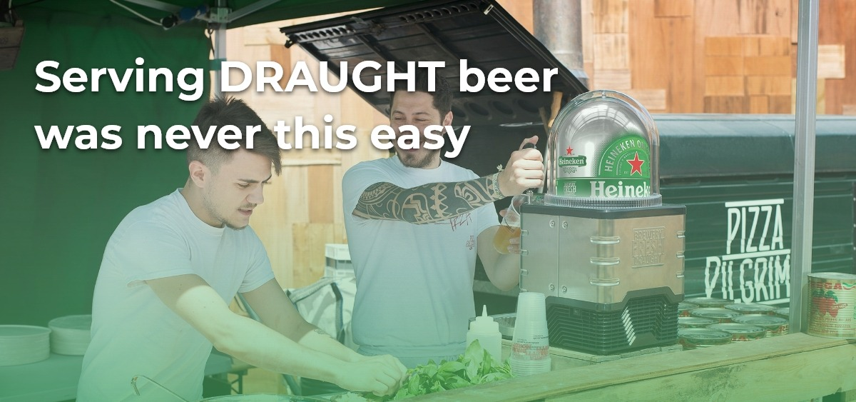 Serving Draught beer was never this easy