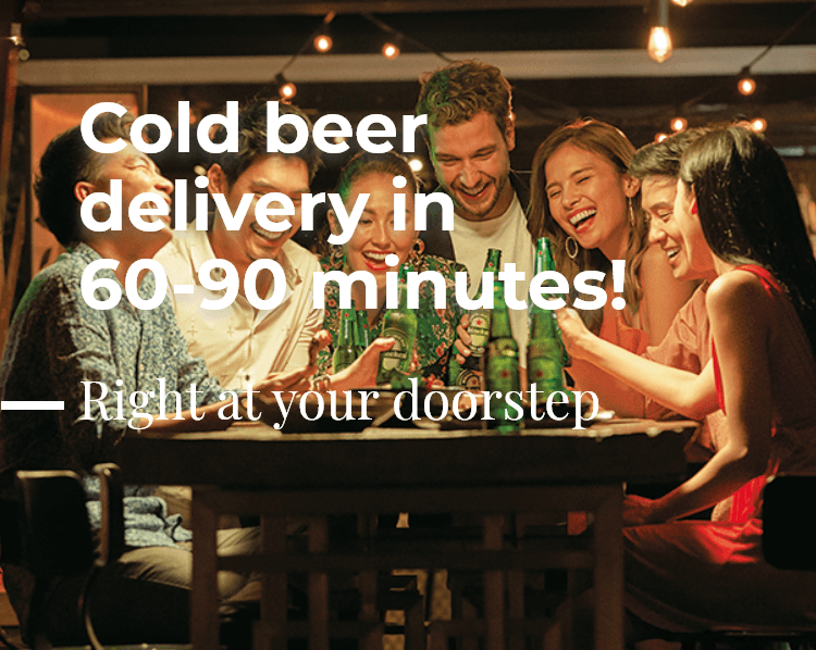 Cool beer delivery in 60 minutes